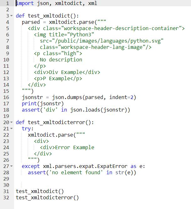 use python's xmltodict to convert xml to json